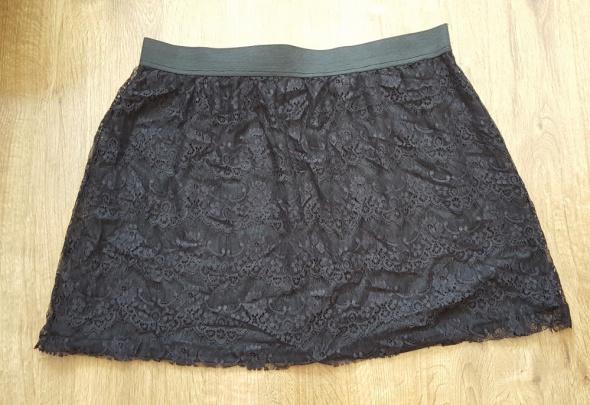 Spódnice Czarna spódnica Pepco mini koronkowa XL 42 koronka seksowna lekka letnia