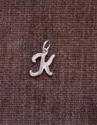 Srebrna zawieszka literka K 925...