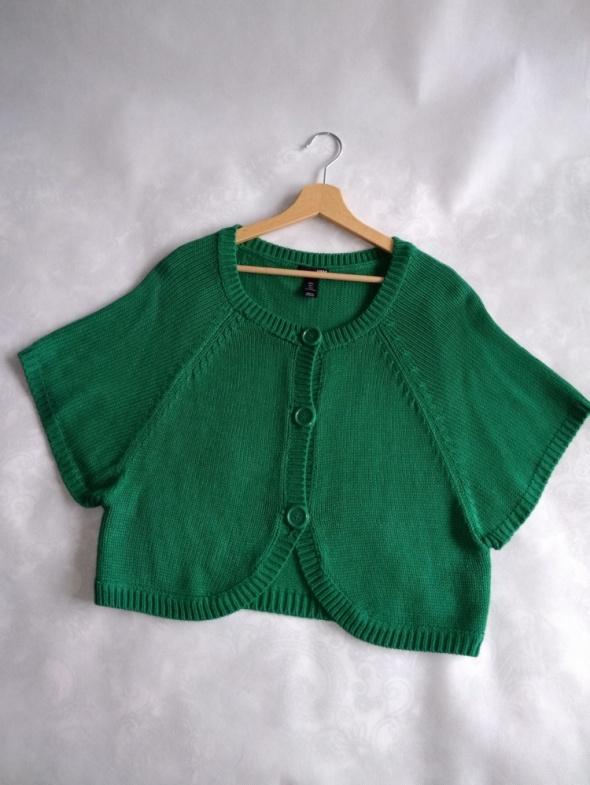 Zielony sweter z guzikami H&M rozmiar L