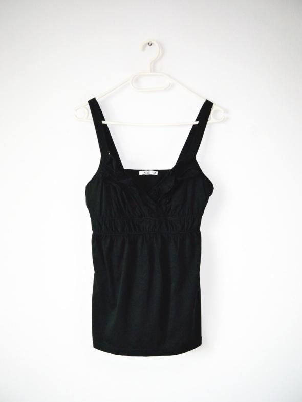 NOWA czarna bluzka top z falbankami gotycka gothic