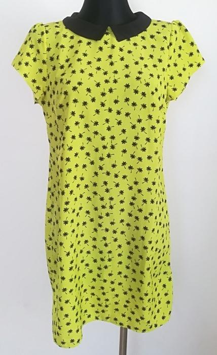 Redherring żółta sukienka palmy M L