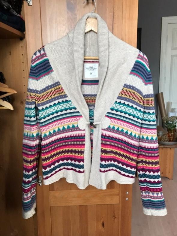 Sweter boho bawełna wzory 40 L H&M