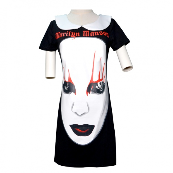 Sukienka tunika Marilyn Manson jak killstar