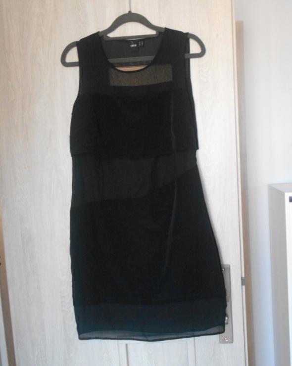 Asos nowa sukienka czarna przezroczyste wstawki