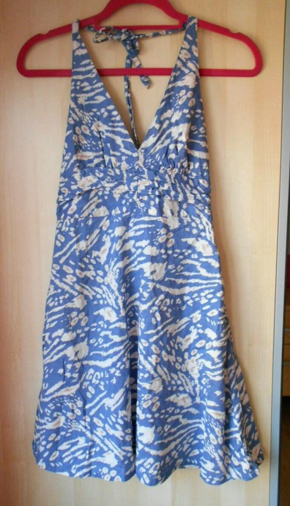 HM sukienka letnia wzory panterka wiązana na szyję