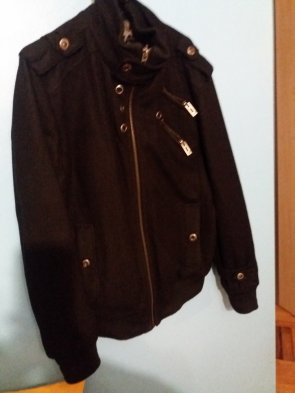Męski sukniany płaszcz kurtka