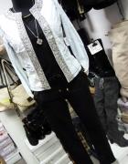 Kurtkeczka narzutka jeans kamienie cyrkonie...