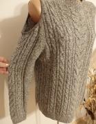 sweter odkryte ramiona melanż...