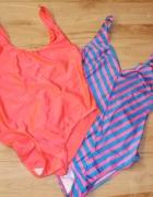 Dwa kostiumy kąpielowe neonowe L...