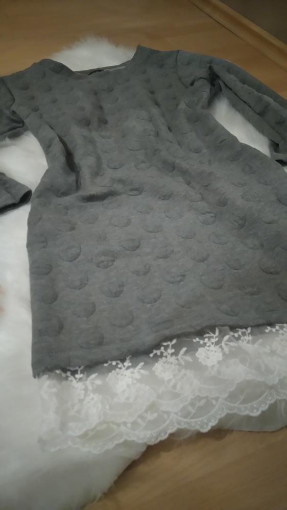 Sukienka wytlaczana koronka tunika