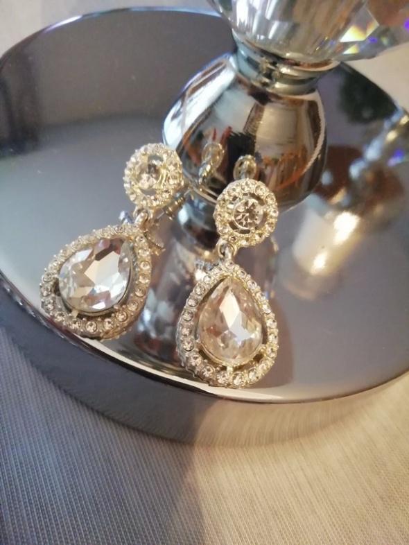 kolczyki cyrkonie wiszące srebrne