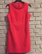 Koralowa sukienka 36...