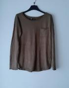 Idealny ciemnozielony sweterek...