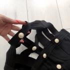 Sukienka czarna złote napy bandage choker