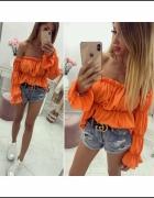 Bluzeczka hiszpanka neon pomarańcz mega...