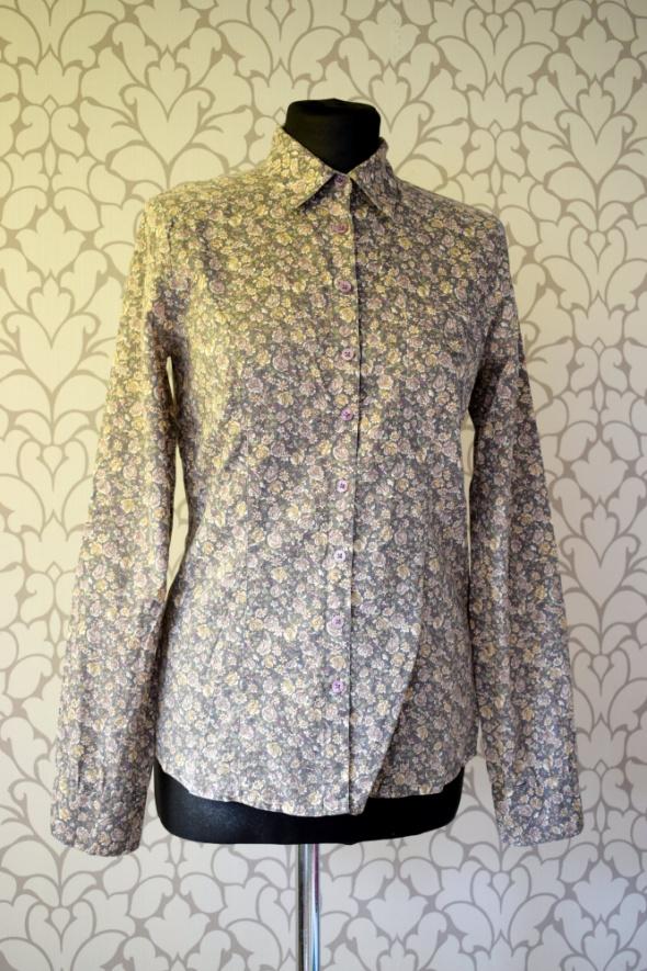 Koszula z motywem kwiatowym w stylu vintage retro kołnierzyk 34 36