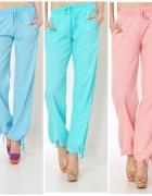 Spodnie w trzech kolorach pumpy wiązane z kieszeniami