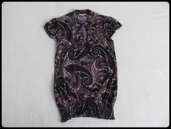Bluzka z dekoracyjnym wiązaniem przy dekolcie ORSAY 38 40...