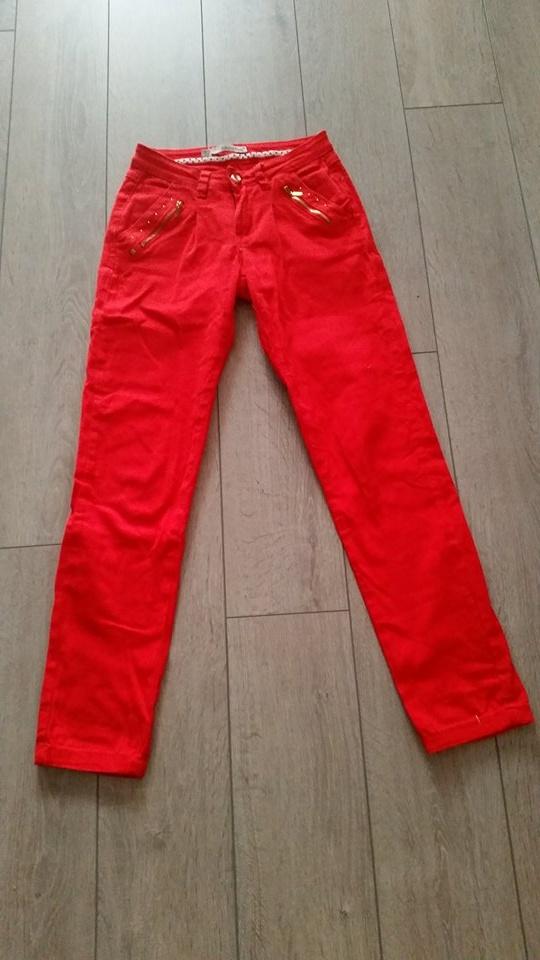 Czerwone spodnie roz 36