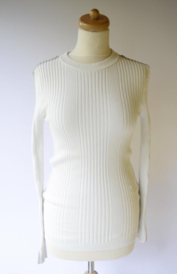 Sweter Vero Moda Jenny Skavlan M 38 Lampasy Biały Prążki