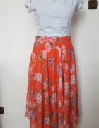 New Look rozkloszowana spódnica wesele S M kwiaty...