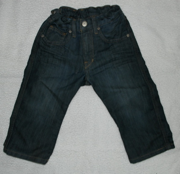 Ciemny dzins spodnie 92