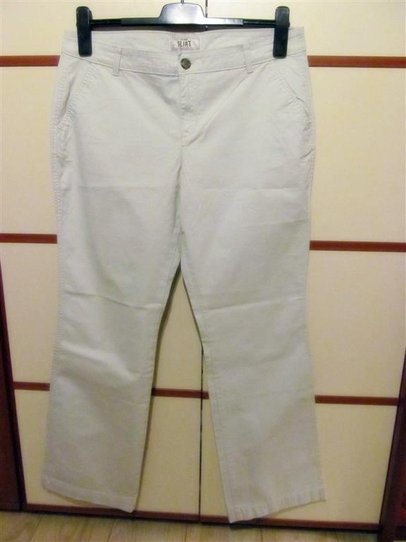 spodnie kremowe 42 Old Navy