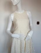 New look koronkowa elegancka rozkloszowana sukienka 38 M S...