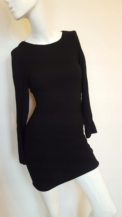 Zara mała czarna sukienka ozdobne plecy 34 36 XS S