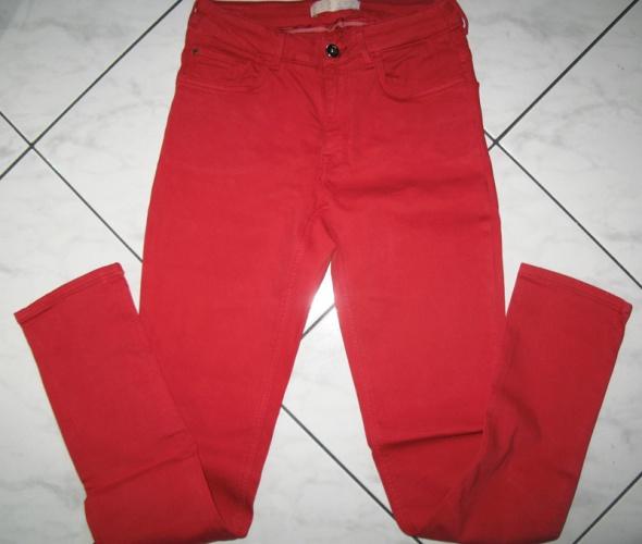 ZARA czerwone spodnie damskie jeansy roz 38