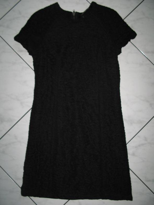 ZARA czarna sukienka drapowany materiał roz 38