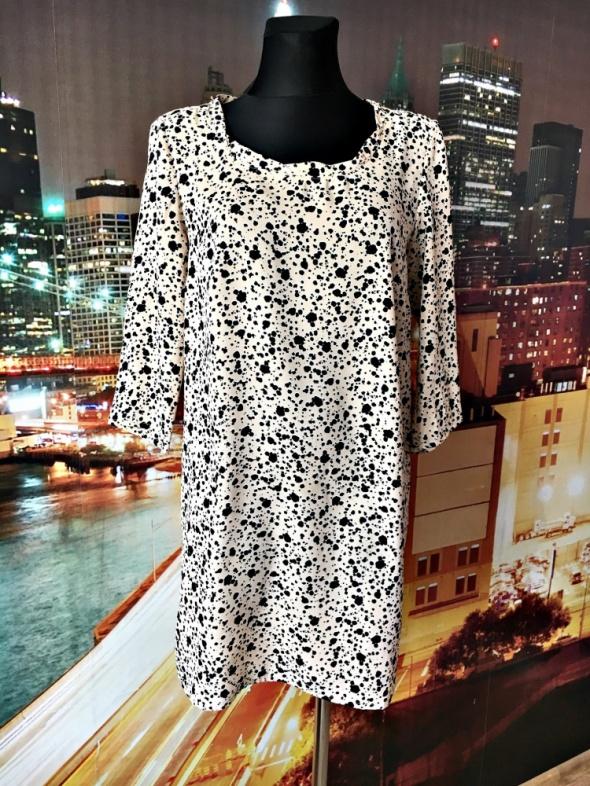 mango sukienka ciekawy wzór luźny fason jak nowa 38 M