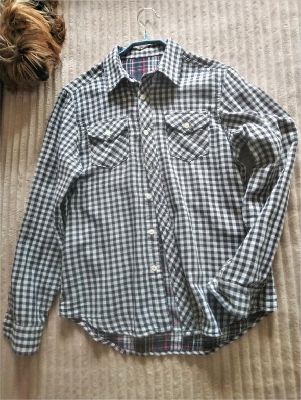 Dwustronna koszula w kratę M bawełna