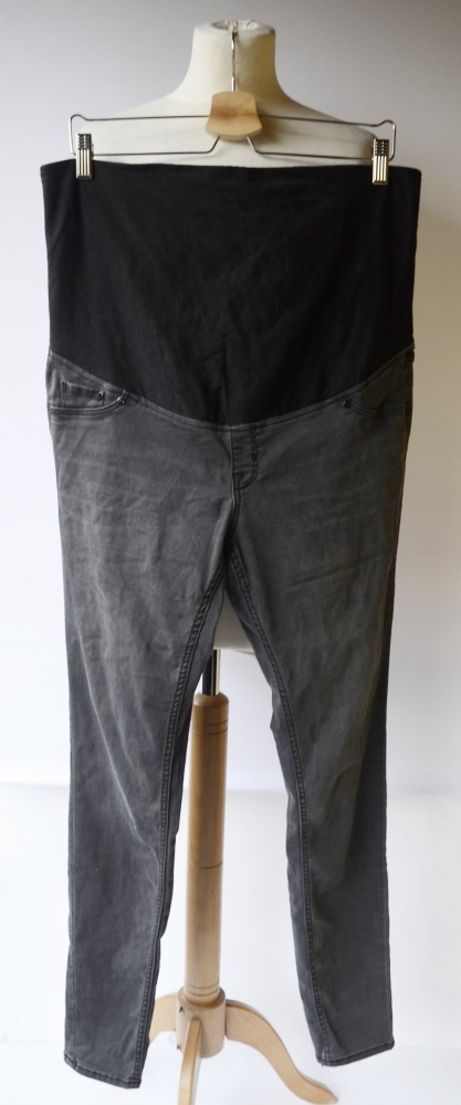 Spodnie Tregginsy H&M Mama Szare 46 XXXL Super Skinny