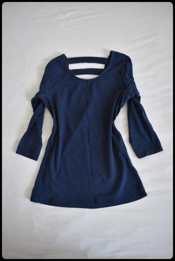 Granatowa bluzka Reserved rozmiar S paski na plecach