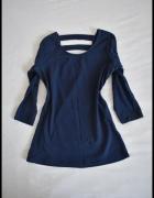 Granatowa bluzka Reserved rozmiar S paski na plecach...