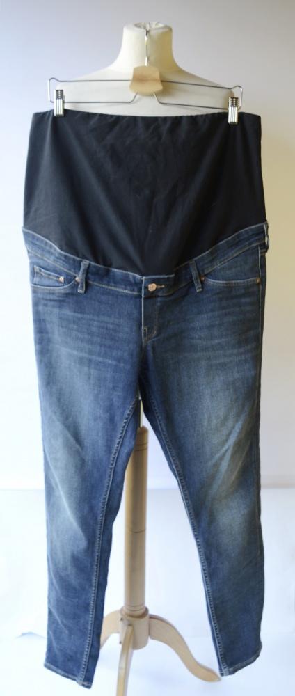 Spodnie H&M Mama Dzinsowe Skinny 48 4XL Ciążowe Tregginsy