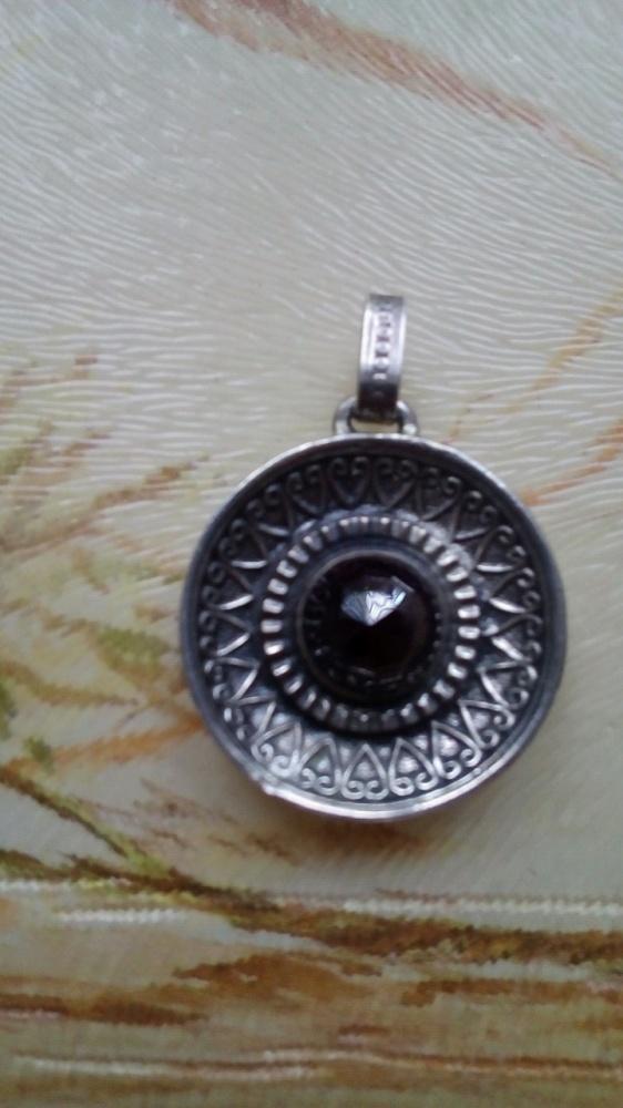 Stary srebrny medalion