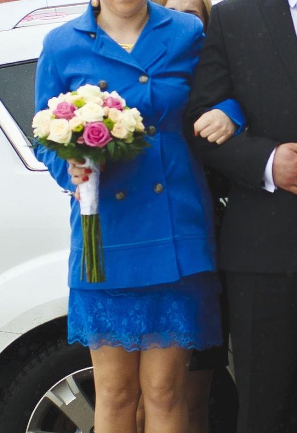 Kobaltowy płaszczyk wiosna