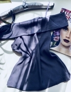 Bluzka H&M 34 XS lila hiszpanka...