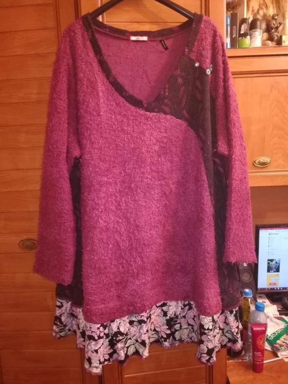 Śliczna ciepła sukienka tunika dla puszystej 52 54...