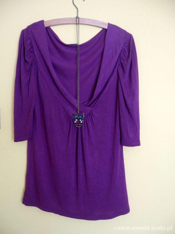 fioletowa ekstra bluzka L fuksja 40