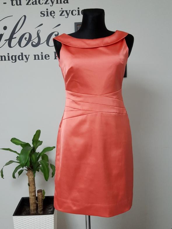 łososiowa sukienka Orsay