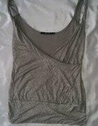 srebrna brokatowana bluzka VERO MODA...