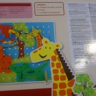 Sznurowanka przeplatanka drewniana zabawka edukacyjna Mothercare Safari