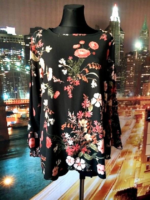 quiz bluzka luźny fason falbanki kwiaty floral hit blog 44...