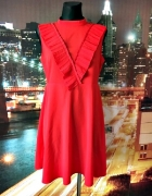 asos sukienka czerwona rozkloszowana elegancka hit 40 L...