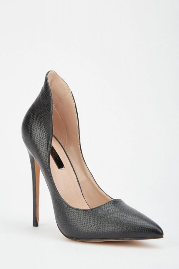 Nowe buty szpilki Lost Ink 39 czarne skóra wysokie obcasy eleganckie do biura