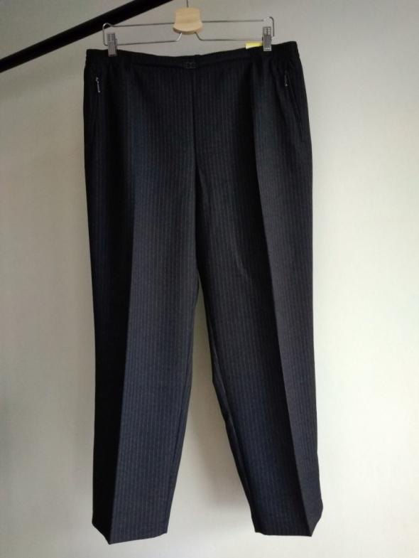 Nowe grafitowe spodnie damskie w paski C&A rozmiar 46
