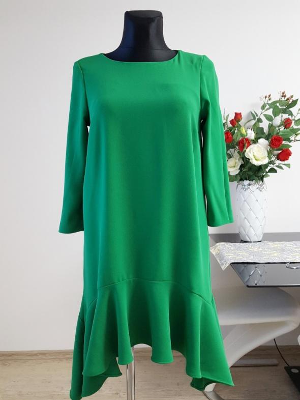 asymetryczna zielona sukienka River Island